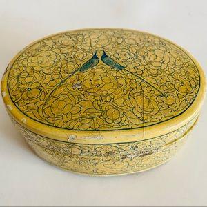 Vintage Kashmiri Peacock jewelry Box